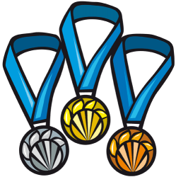 Medalles pels tres primers classificats Joc